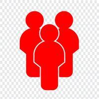 Sinal, de, pessoas, ícone vetor