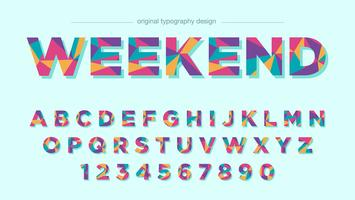 Design colorido de tipografia vetor