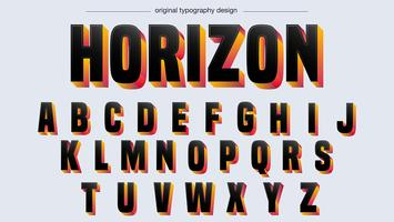 Tipografia negrito preto vetor