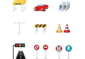 Pacote de vetores de tráfego e transporte