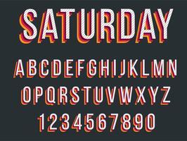 Design de tipografia vermelho colorido vetor