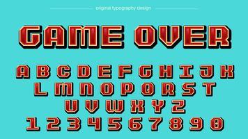 Tipografia Red Pixel Square vetor