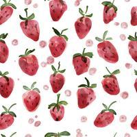 Vetorial, ilustração, de, morangos, seamless, padrão