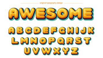 Quadrinhos Amarelo Tipografia vetor