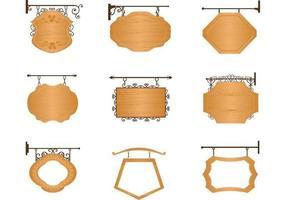 Pacote vetorial de madeira