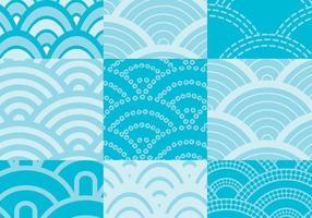 Pacote de vetores de padrão de ondas