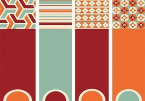 Pacote de vetores de padrões com padrões retro