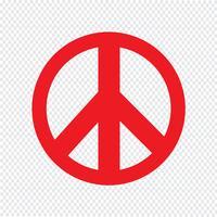 Ilustração em vetor ícone sinal de paz