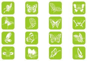 Pacote de vetores de borboletas