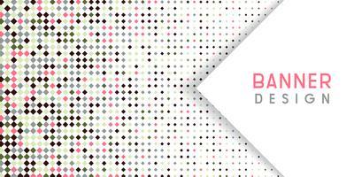 Fundo abstrato banner com design de meio-tom de diamante vetor