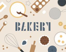 cartão de padrão de objeto de padaria