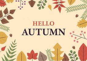 cartão de folha de outono.