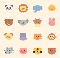 coleção de rosto animal