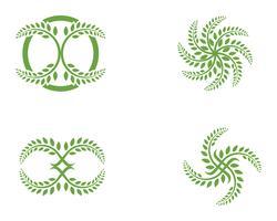 folha ecologia natureza elemento vetor ícone