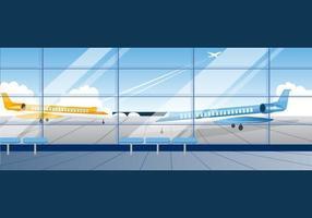 Pacote de ícones de vetor de aeroporto