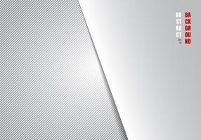 As linhas diagonais do molde abstrato listraram o fundo e a textura brancos e cinzentos do inclinação com iluminação e espaço para seu texto. Estilo de luxo. Você pode usar para o seu negócio