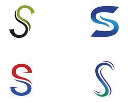 S logotipo e símbolos vetoriais modelo de ícones vetor