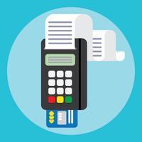 Pos terminal em estilo simples. Forma de pagamento.