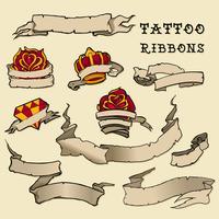Conjunto de fita de tatuagem vetor