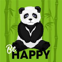 Ilustração, de, triste, urso panda vetor