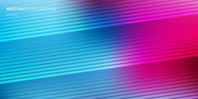A cor vibrante azul, roxa, cor-de-rosa abstrata borrou o fundo com linhas diagonais textura do teste padrão. Cenário gradiente suave escuro a claro com lugar para texto vetor