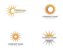 Ilustração vetorial Ícone Logo Template Sun over horizon