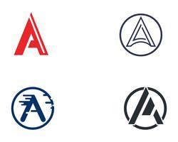 Um ícone de vetor de modelo de negócios carta de logotipo