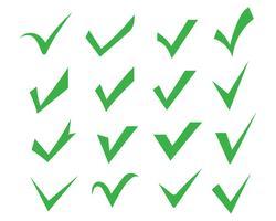Imagem de vetor de ícones de marca de seleção