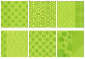 Pacote de vetor de fundo verde funky