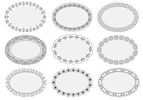 Decorative Oval Frames Vectors