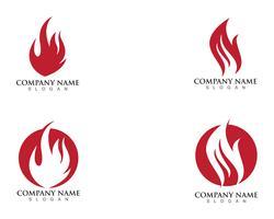 modelo de logotipo de fogo chama vetor
