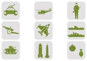Pacote de vetores militares e militares