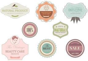 Loja e Boutique Label Pack Vector