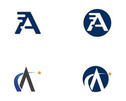 Um logotipo de carta de negócios e ícone de vetor de modelo de símbolo