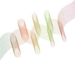 vetor de ilustração gráfica de linha de onda