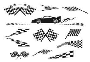Pacote de vetores de velocidade e corrida