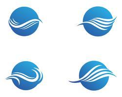 Onda de água Logo Template vector illustration design