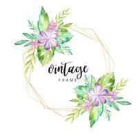 Quadro floral tropical em aquarela