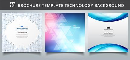 Conjunto de tecnologia de modelo abrange o design. vetor
