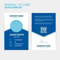 Modelo de Design de cartão de identificação criativa abstrata vetor