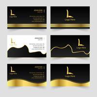 Design de cartão de visita de luxo abstrata