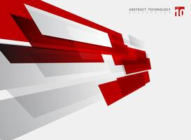 Fundo brilhante geométrico do movimento da cor vermelha da tecnologia abstrata.