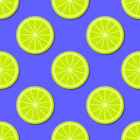 Fundo de verão fatias de limão vetor