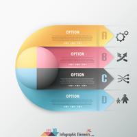Faixa de opções infográfico moderno.
