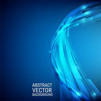 Fundo abstrato geométrico cor azul. Estilo de onda de design com espaço de cópia vetor
