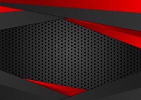 Fundo geométrico da cor vermelha e preta do vetor. Textura abstrata com design de espaço de cópia para o seu negócio.