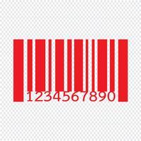 Ilustração em vetor ícone de código de barras