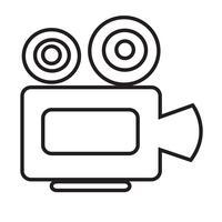 Ícone da câmera do cinema vetor