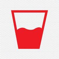 beber icon ilustração vetorial vetor