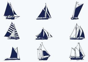 Pacote de vetores do navio à vela